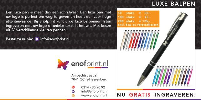Pennen enofprint s-heerenberg